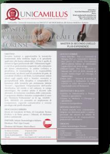 Master in Odontoiatria Legale e Forense Unicamillus